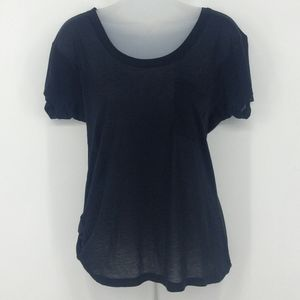 Express Sheer Black Tee with Front Pocket